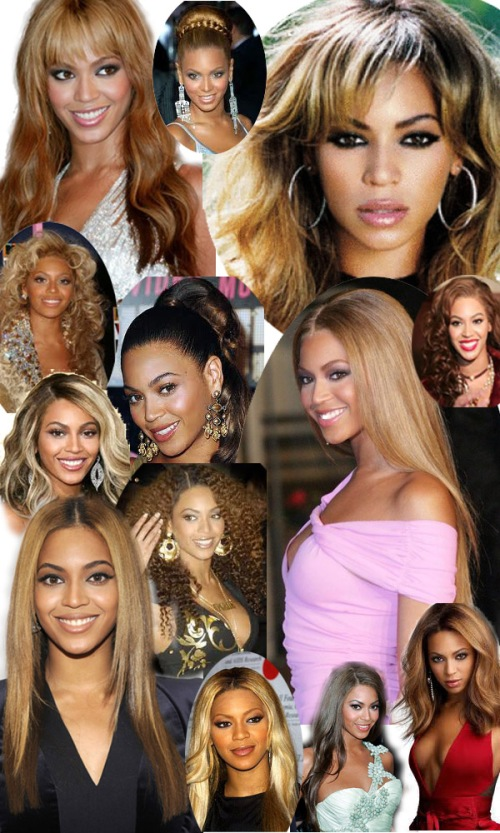 beyonce hair styles through time