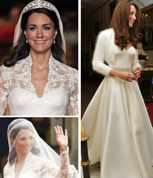 Kate Middleton wedding hair picture