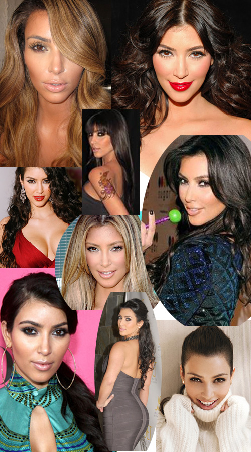 kim Kardashian hair extensions inspiration