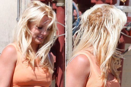 britney spears bad hair extensions pictures