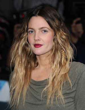 Ombre Hair Color Drew Barrimore