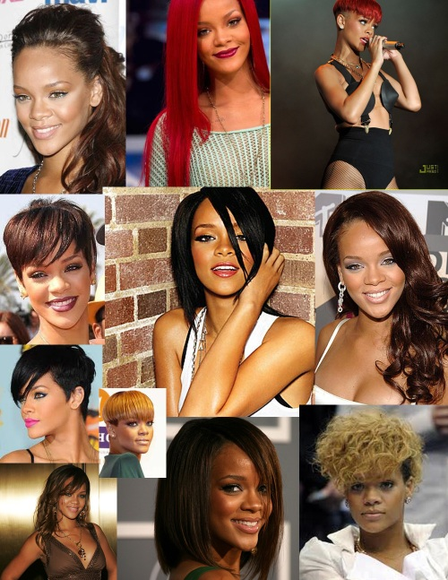 Rihanna hair styles whether it be red hair, blonde hair, black hair, blonde hair, short hair or long hair